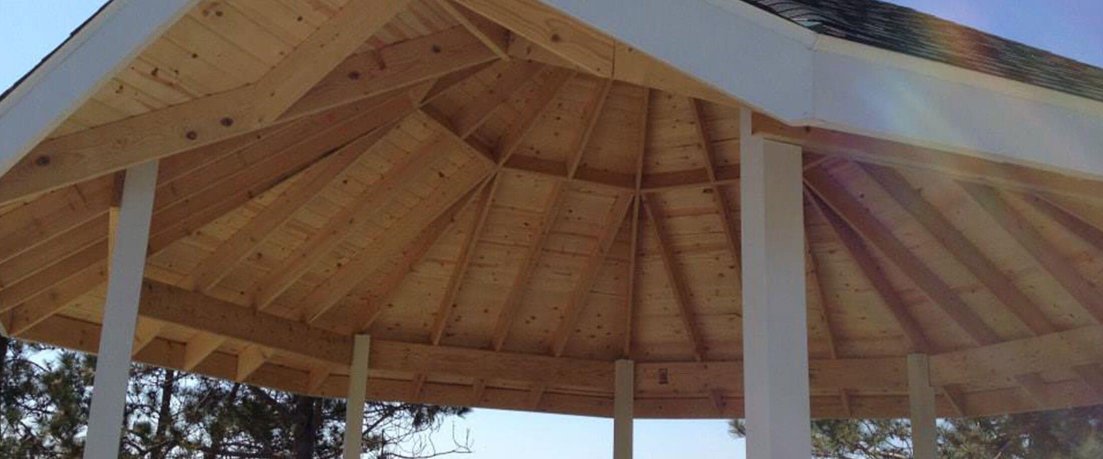 Deck pavilion built by Lifestyle Lumber